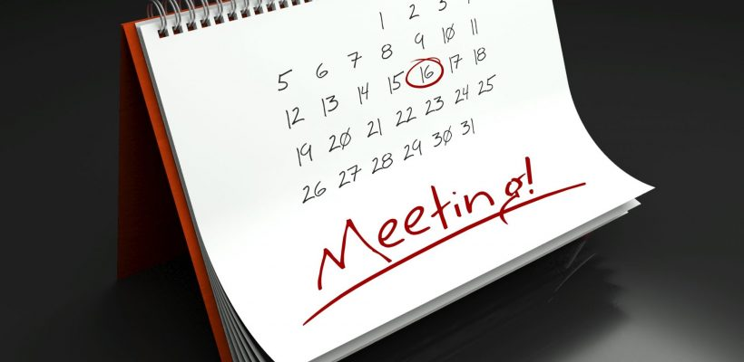 Meeting important day calendar concept